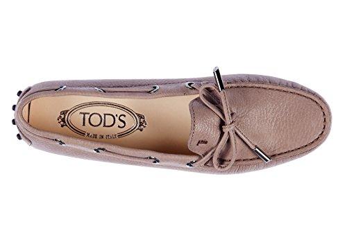 Tod's mocassini donna in pelle originale gommini heaven marrone