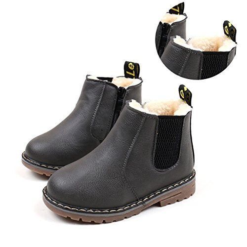 Price comparison product image Save Beautiful Baby Kids Boots Girl Boy Shoes Rain Hiking Winter Snow Booties (8.5 M US Toddler,  A-R-Grey)