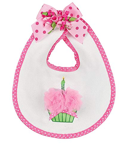 (Bearington Baby Her 1st Birthday Outfit Bib with Cupcake, 10