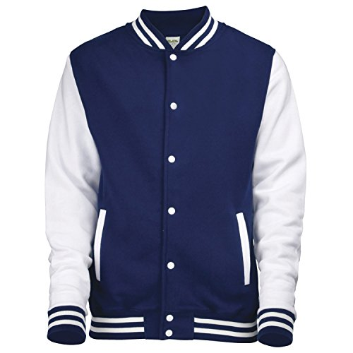 nbsp;oxford Bleu Marine Jh043 Medium blanc Awdis Varsity Hoods Jacket Just XqxYFvw