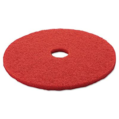 "3M 5100 Low-Speed Buffer Floor Pads 5100, 20"" Diameter, Red, 5/carton"