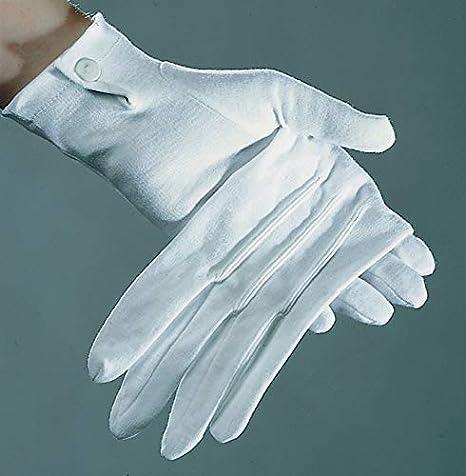 421a031a372eb2 PARTY DISCOUNT ® Handschuhe Damen, weiß mit Biesen, Baumwolle ...