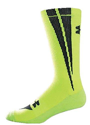 Under Armour Yellow/Black Dagger Crew All Sport Sock 1-Pack, Large U410-HIYBLK-LG