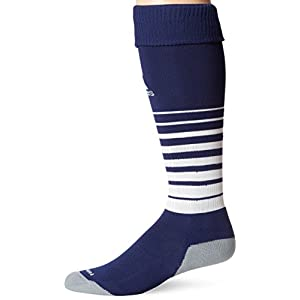 adidas Team Speed Soccer Sock, New Navy/White, Large