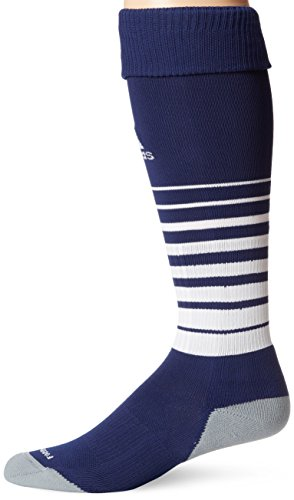 Youth Navy Blue Player - adidas Team Speed Soccer Sock, New Navy/White, Medium