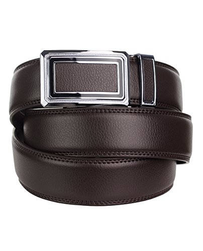 eurosport-mens-genuine-leather-ratchet-dress-belt-with-automatic-buckle-fdl065-brown-41-42