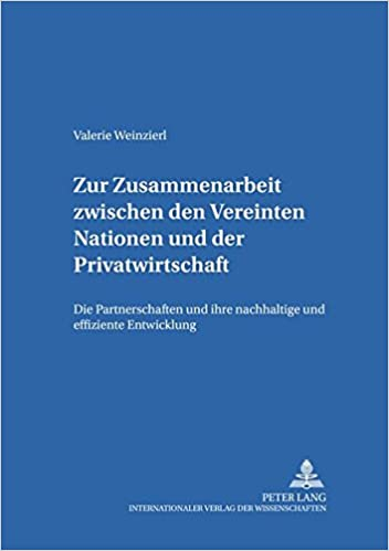 Zur Zusammenarbeit Zwischen Den Vereinten Nationen Und Der Privatwirtschaft: Die Partnerschaften Und Ihre Nachhaltige Und Effiziente Entwicklung (Internationale Beziehungen)