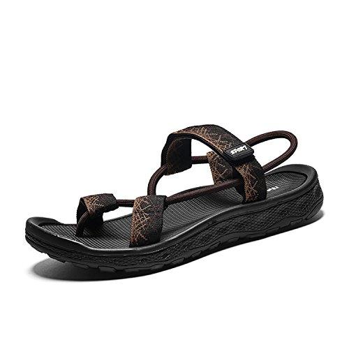 Estivi da Tempo Morbido Sandali Uomo Scarpe Sandalo Auspiciousi Uomo da per Il Brown Uomo Comode Pantofole Flop per Libero Flip SRZ5qw1