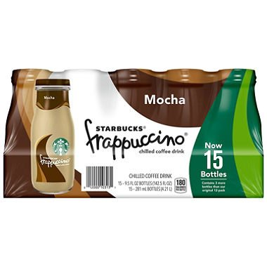 Starbucks Frappuccino Coffee Drink, Mocha (9.5 oz. bottles, 15 pk.)ESC by Europe Standard