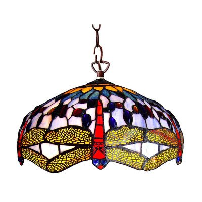 Dragonfly Tiffany Style Pendant Light Fixture - 3