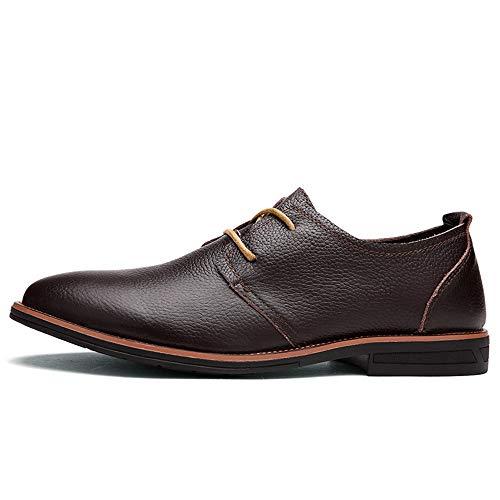Oscuro Jialun Para Zapatos Marrón Papel Hombre shoes Cordones De wn1wP8q
