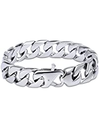 JOYEN Men's Chain Bracelet 316L Stainless Steel Curb Link...