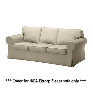 Amazon IKEA EKTORP Slipcover for 3 Seat Sofa Tygelsjo Beige NEW cover only Home & Kitchen