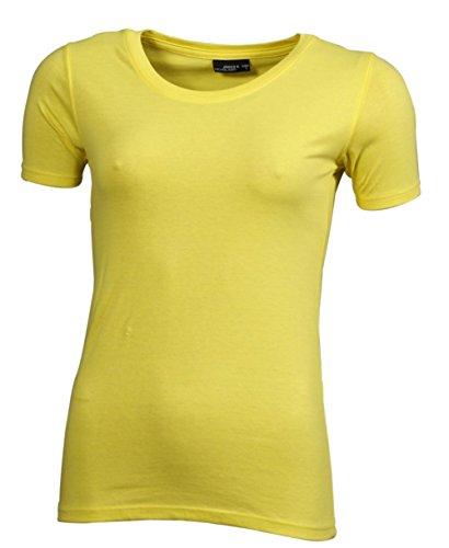 Opaco U Maniche Collo Donna amp; James 4 a a T Giallo Nicholson shirt 3 0wYxqPa