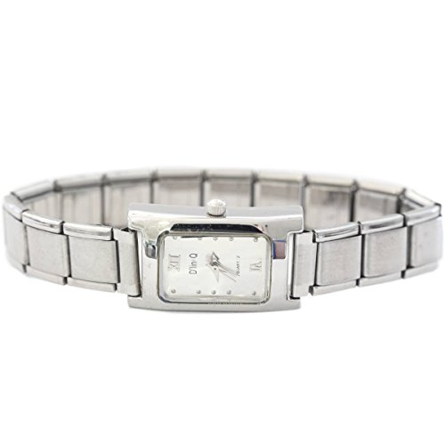Rectangle Gray 13mm Italian Charm Watch