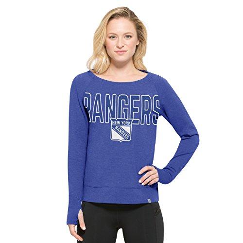 Ny Rangers Classic Shirt (NHL New York Rangers Women's '47 React Raglan Long Sleeve Tee, Medium, Booster)