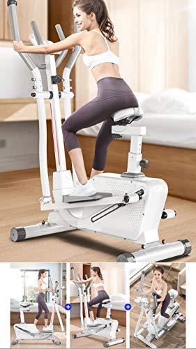 GOLDEN MANGO Magnetic Elliptical Machine Spinning Bike Treadmill Cross Elliptical Trainer And Exercise Bike with Seat 3…