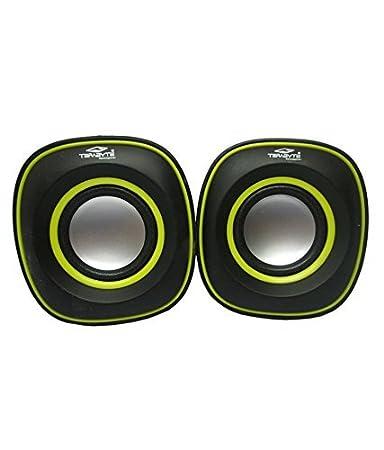 speakers desktop. terabyte tb-015 (usb powered) 2.0 mini desktop speakers - black \u0026 yellow u