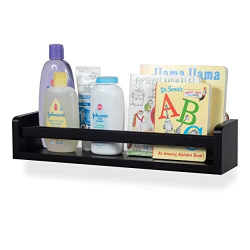 Shelf Wall Diaper (Baby Nursery Room Wall Shelf Wood 17.5 Inch Ships Fully Assembled)