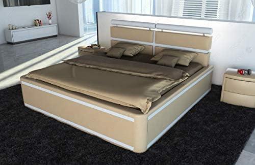 Sofa Dreams Cama Venezia con Iluminación Led y Bornell Colchones