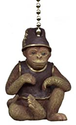 MONKEY fez Tropical CEILING FAN Pull chain home decor