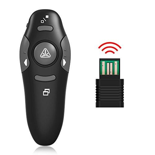 Wireless Presenter, YINXN RF 2.4GHz USB Remote Controlled PowerPoint PPT Clicker Presentation Laser Pointer by YINXN