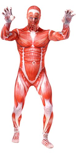 [Seeksmile Unisex Strengthen Muscle Lycra Morph Suit Zentai Costume (Large, Red)] (Red Morph Suit)