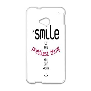 ZK-SXH - Smiley Customized Hard Back Case for HTC One M7, Smiley Custom Case