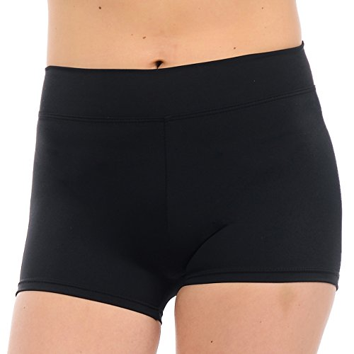 ANZA Girls Active Wear Dance Booty Shorts-Black,Medium by Anza Collection