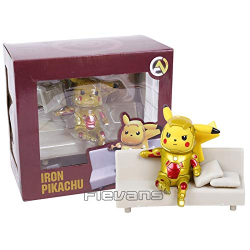 PampasSK Action & Toy Figures - Pikachu Cosplay Deadpool Captain America Iron Man Super Mario Naruto Kakashi PVC Figure Collectible Model Toy 1 PCs ()