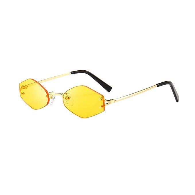 69024edb50612d Occhiali da Sole Vintage,WQIANGHZI Retro Polarizzati Vogue Donna Protezione  UV400 Poligono Forma Colori Candy Sunglasses Viaggio Mare Vista Eyewear Moda:  ...