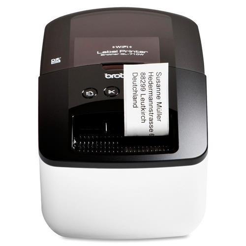 Brother QL-710W Direct Thermal Printer – Monochrome – Desktop – Label Print – 300 x 600 dpi – Wi-Fi – USB
