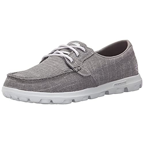 Skechers Performance Womens On-The-Go Mist Boat Shoe, Gray Mist, 8 M US
