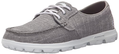 Skechers Performance Womens On-The-Go Mist Boat Shoe,Gray Mist,9 M US