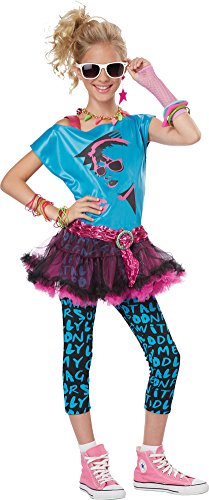 Girls Halloween Costume- 80s Valley Girl Tween Costume Large 10-12