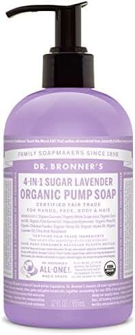 Dr. Bronner's Organic Sugar Soap - (Lavender, 12 Fl Oz)