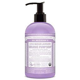 Dr. Bronner\'s Organic Sugar Soap - (Lavender, 12 Fl Oz)