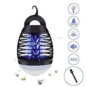 2 in 1 Lampada Anti Zanzara, USB Repellente per zanzare Lampada con lampada da Campeggio,Impermeabile IP67,3 Luminosità di Luce,Adatto per uso Interno ed caccia, campeggio, pesca(nero) 1 spesavip