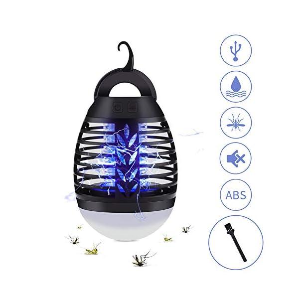 2 in 1 Lampada Anti Zanzara, USB Repellente per zanzare Lampada con lampada da Campeggio,Impermeabile IP67,3 Luminosità… 1 spesavip