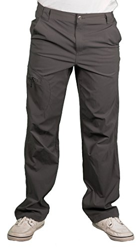 Outback Rider Men's Outdoor Trek Pants, Grey, Size 42