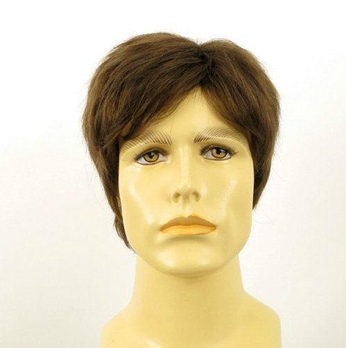 univers perruque Natural Hair Short Wig For Man Dark Blond Ref Pierre 8