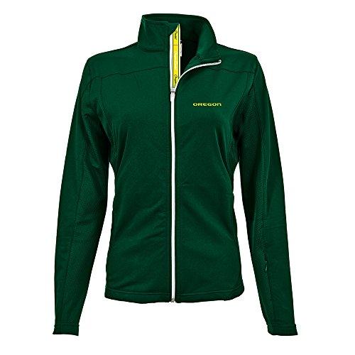 Aurora Oregon (Levelwear NCAA Oregon Ducks Women's Aurora Team Text Full Zip, Medium, Rider Green)