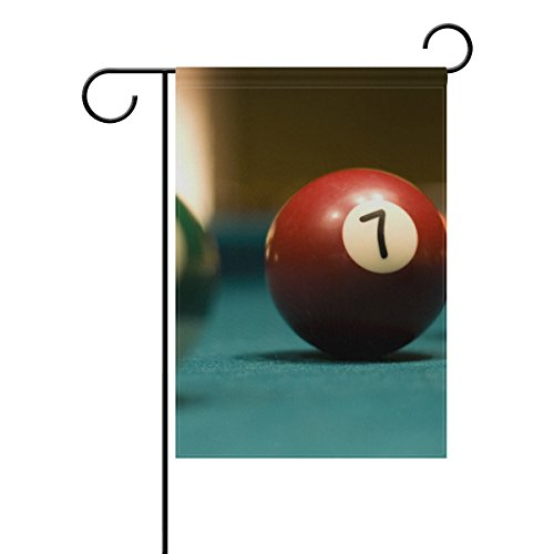 - NOAON Garden Flag 3 Billiard Balls On Pool Table Double Sided Yard Decoration House Banner 28