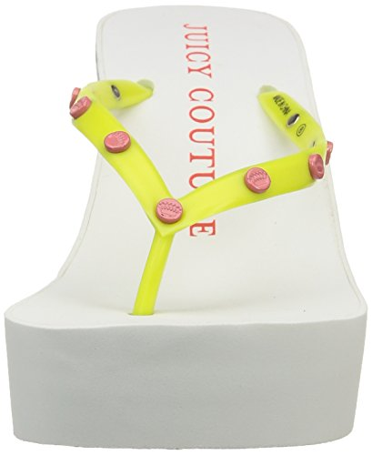Juicy Couture CARI - Sandalias para mujer LEMON POP /WHITE