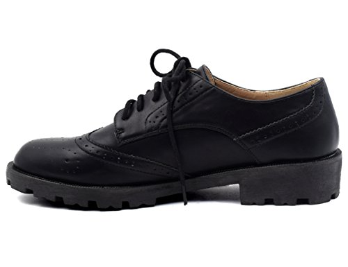 Shoes Oxford Comfort Women Black Synthetic MaxMuxun wItqRR