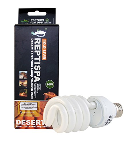 Reptispa Desert Terrarium 10.0 UVB 26 Watts Compact Fluorescent Lamp (Fluorescent Compact Uvb Lamp)