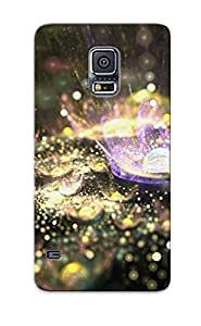 Eatcooment Scratch-free Phone Case For Galaxy S5- Retail Packaging - Fractal Dome Splashes