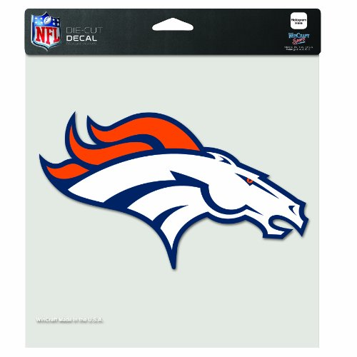 NFL Denver Broncos 8-by-8 Inch Diecut Colored Decal Wincraft Denver Broncos Clock
