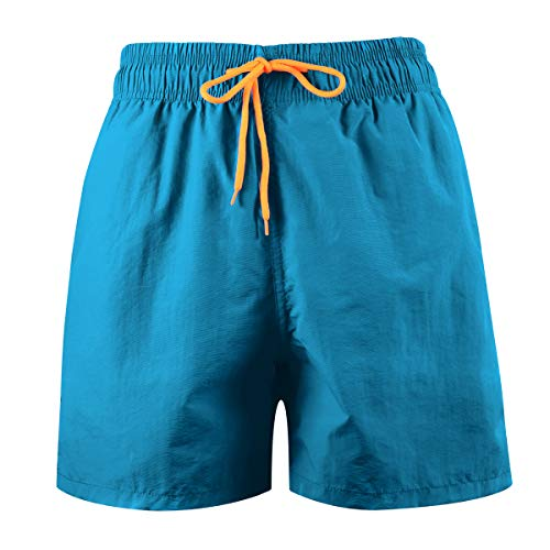 LEIDAI Men\'s Beach Shorts, Loose Quick Dry Swim Trunks Drawstring Summer Short Pants for Men, Boys (1#, XL)