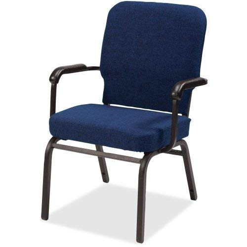 Lorell LLR59602 Fixed Arms Vinyl Oversized Stack Chairs, 6.1